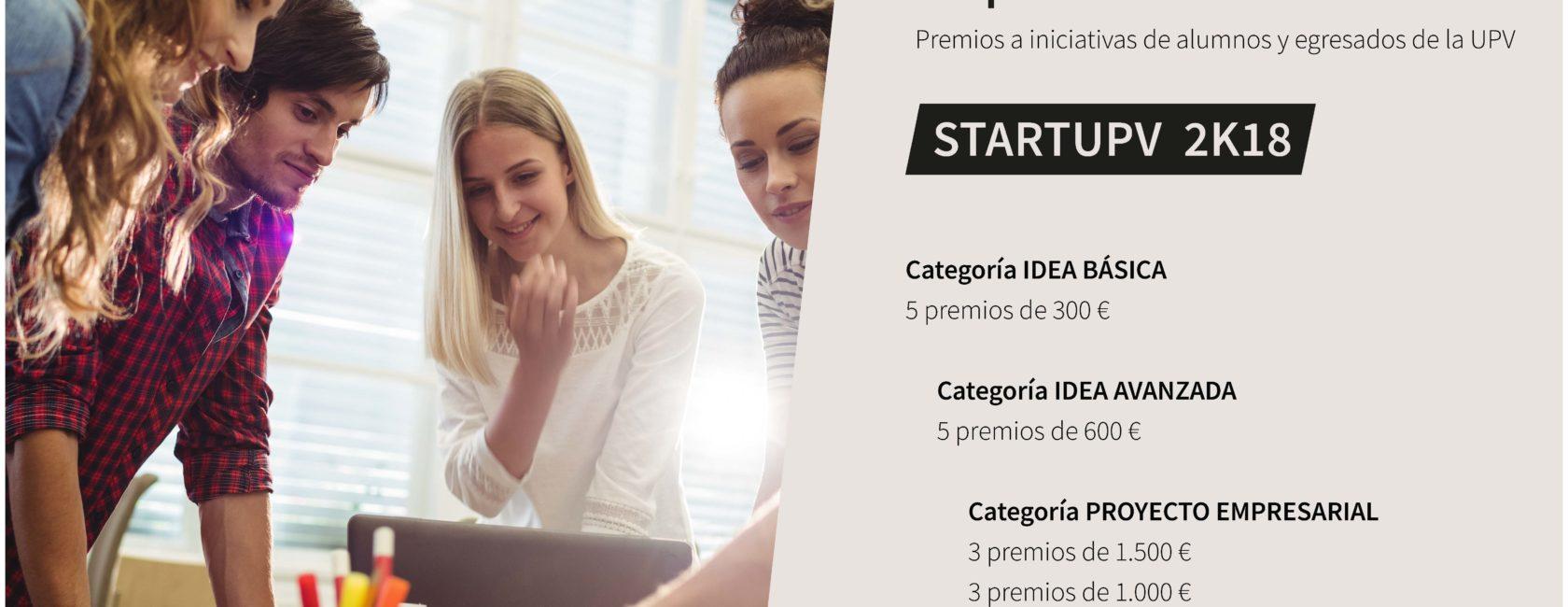 """V Edición Concurso Emprendedor Universitario """"StartUPV 2K18"""""""